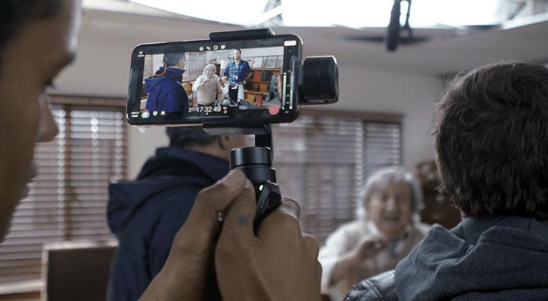 Serie con resultados de vídeo profesional con smartphone.
